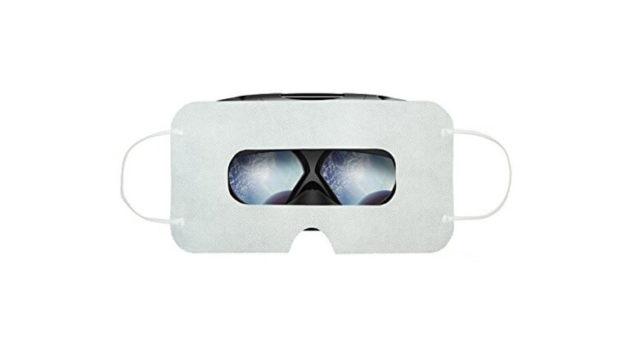 vr einwegmasken auf vr brille